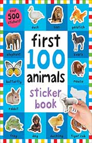 resusable sticker book about animals