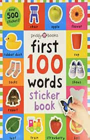 resusable sticker book about words